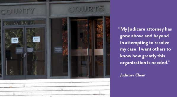 Image of County Court with client quote